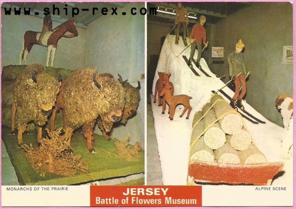 Jersey Battle Of Flowers Museum - multiview postcard (b)